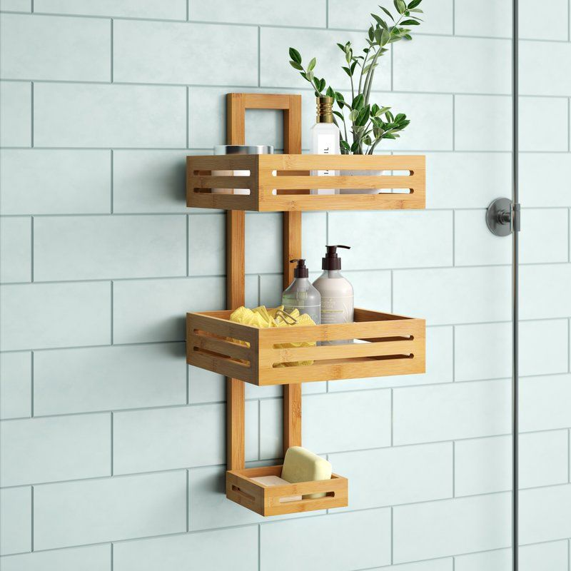 Thacker Bamboo Shower Caddy Bamboo Shower Caddy Bathroom Caddy Bamboo Bathroom Decor