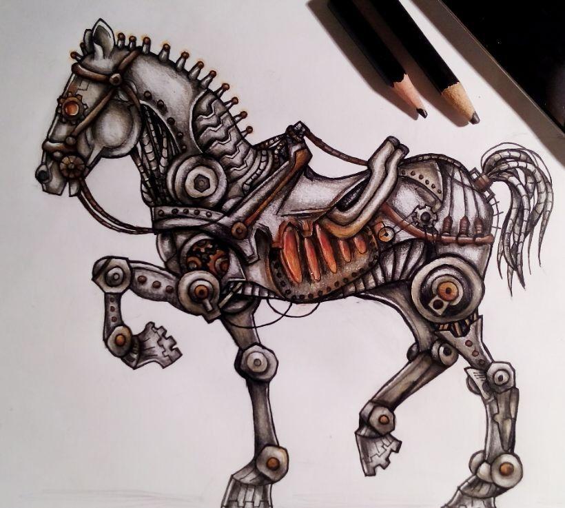 steampunk animals drawing - Google Search | Steampunk ...