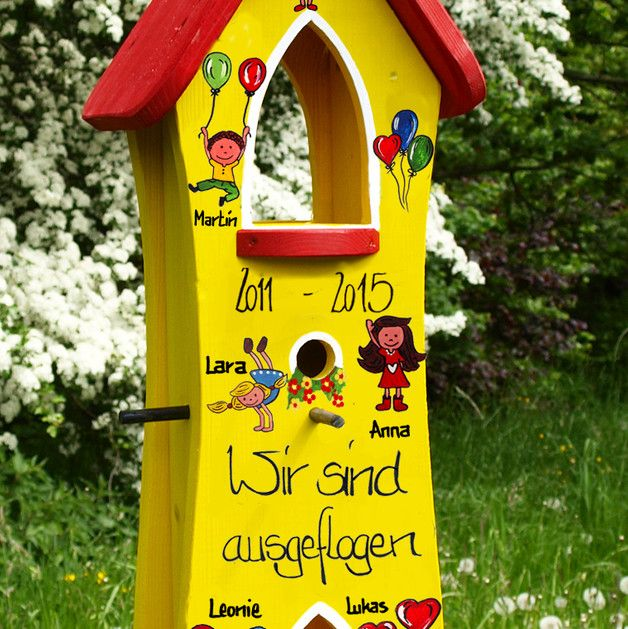kindergarten abschiedsgeschenk vogelhaus abschied. Black Bedroom Furniture Sets. Home Design Ideas