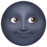 New Moon Face Emoji Meaning Copy Paste In 2020 Moon Emoji Moon Face Emoji Black Moon Emoji