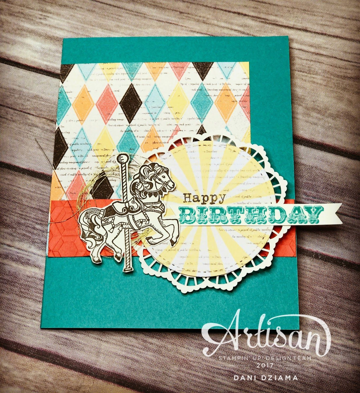 Hello there stampers! Have you noticed just how gorgeous the Cupcakes & Carousels suite is? I just can't seem to get enough of it! I thi...