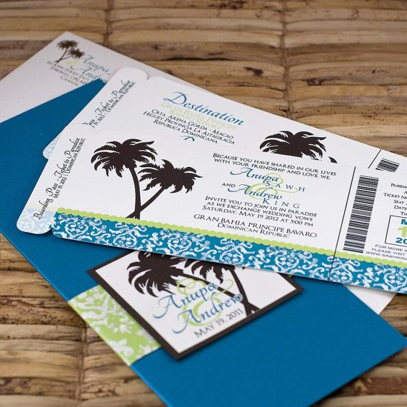 Destination Wedding Invitations | wording, more obvious location though
