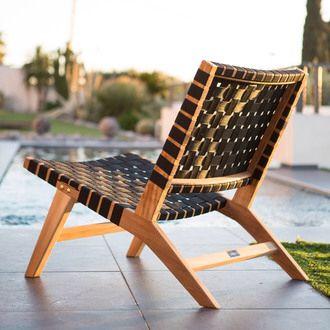 fauteuil bas teck et corde tress e ethnika by ermanno g coups de coeur pinterest. Black Bedroom Furniture Sets. Home Design Ideas