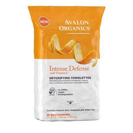 Avalon Organics Detox Towelettes with Vitamin C, 30 Ct, Multicolor