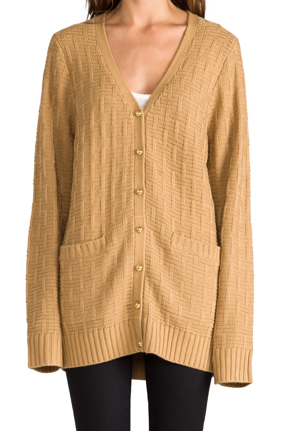 Be Better Cardigan in Rugby Tan