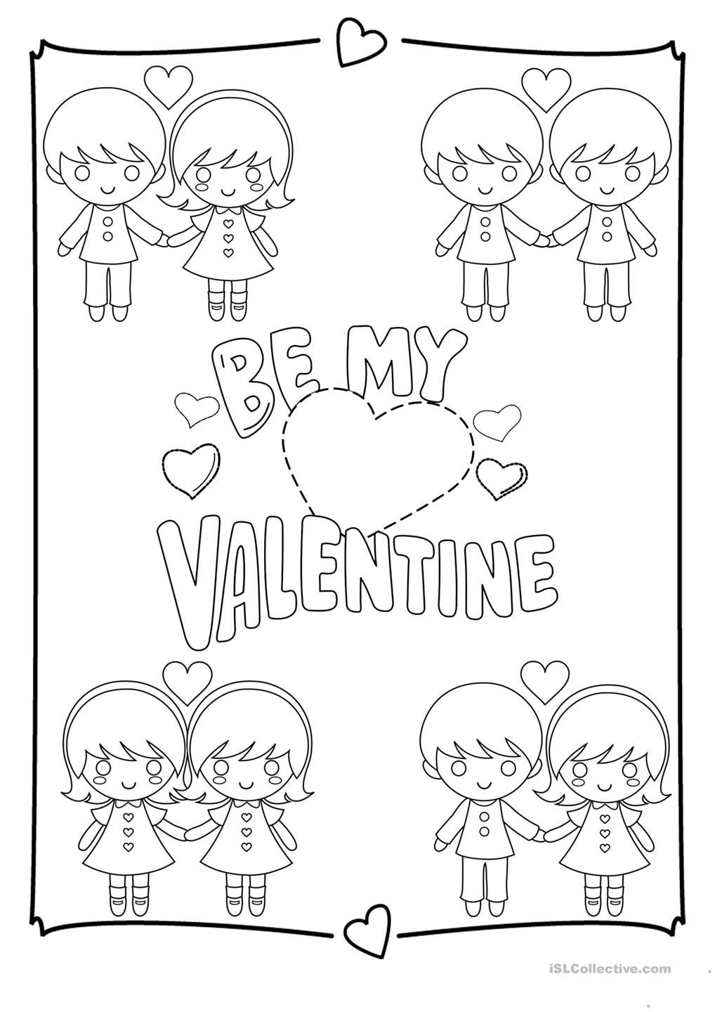 Valentines Day Coloring Page  Valentines day coloring page