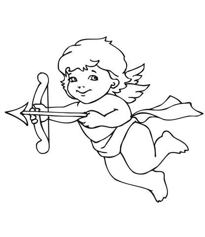 Cupido Dibujo para colorear | Carpeta de ÁNGELES | Cupido dibujo ...