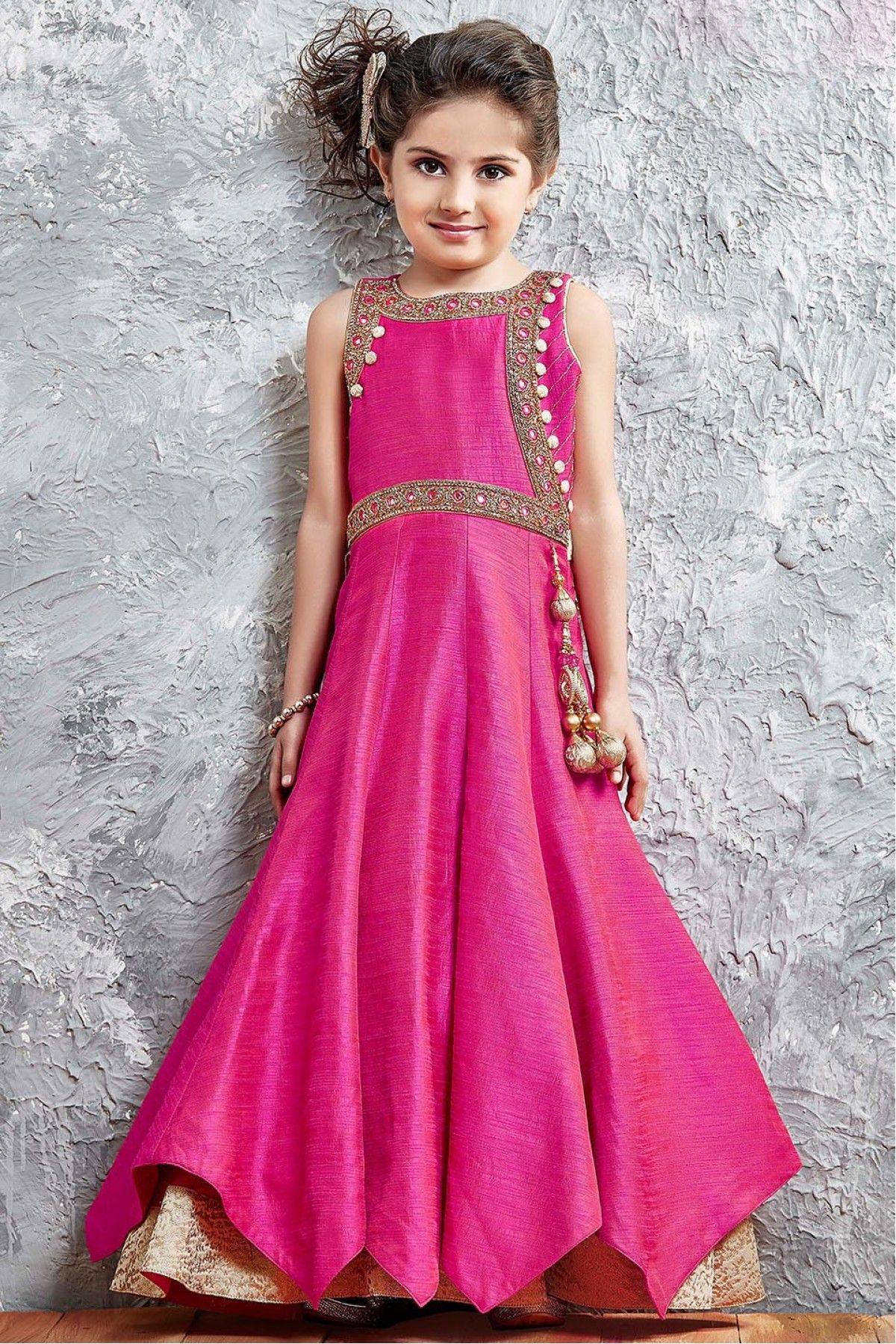 Net And Satin Party Wear Gown In Red Colour | Red color, Party wear ...