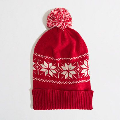 Keep her head warm with this J.Crew Factory Fair Isle hat now $17 ...