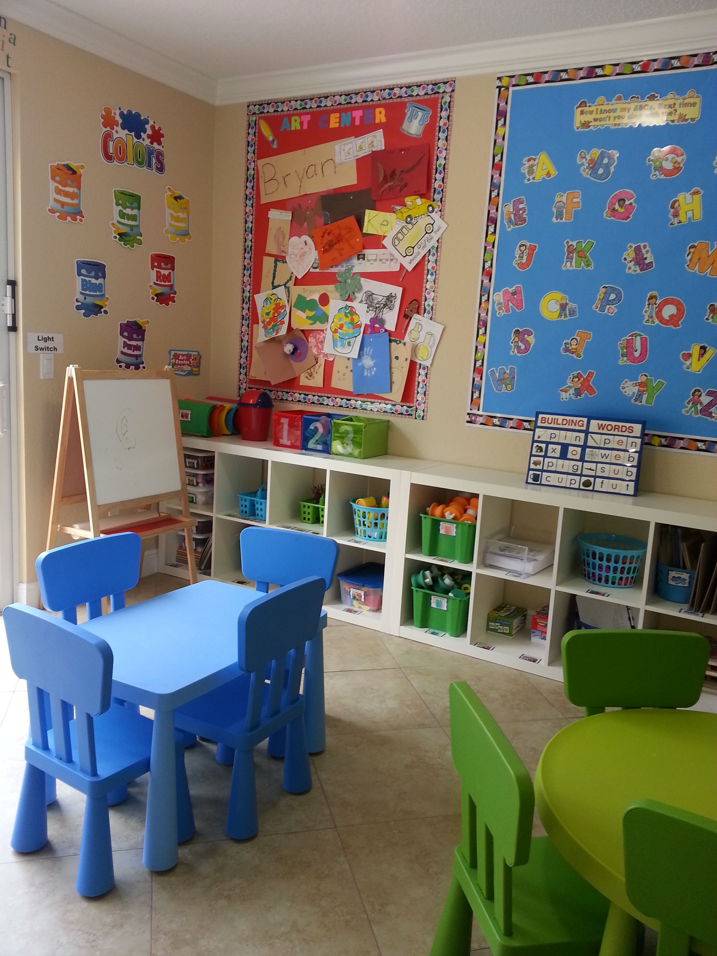 Two Small Tables Home Daycare Ideas The Kids Place Preschool Palm Springs Fl Daycare Decor Daycare Design Home Daycare