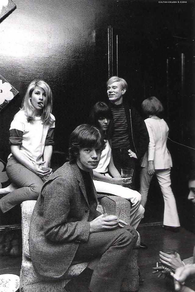 A friend of my girlfriend's family dated Mick Jagger. Here is a pic of her with him, Andy Warhol, and Jane Holzer circa 1965.