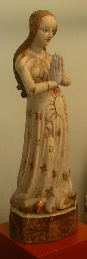 Maria gravida, wood, silesian sculpture ca. 1420, Zisterzienserinnen-Kloster Marienstern (Lausitz, Germany)
