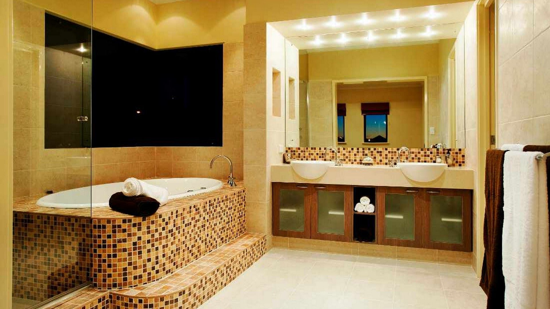Remarkable Small Tiles Bathroom Flooring Options For Glossy Room ...