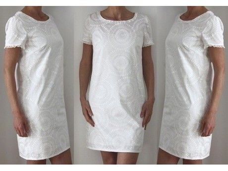 Patron de couture robe blanche pour femme custura for Apprendre a couture gratuit