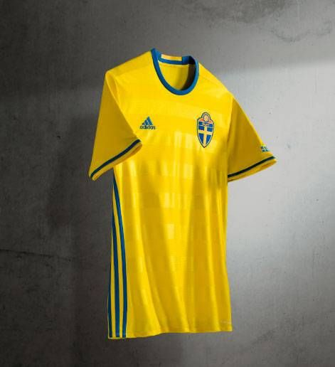 8e217abf7 New Sweden 2016 Jersey- Adidas Swedish Euro 2016 Kit Home ...