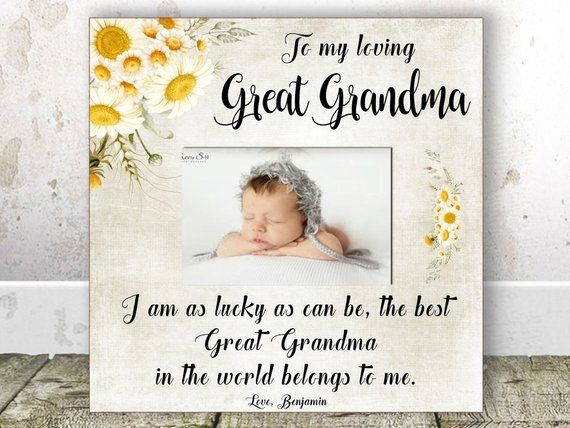 Great Grandma CHRISTMAS Gift Birthday Pregnancy Announcement Picture Frame