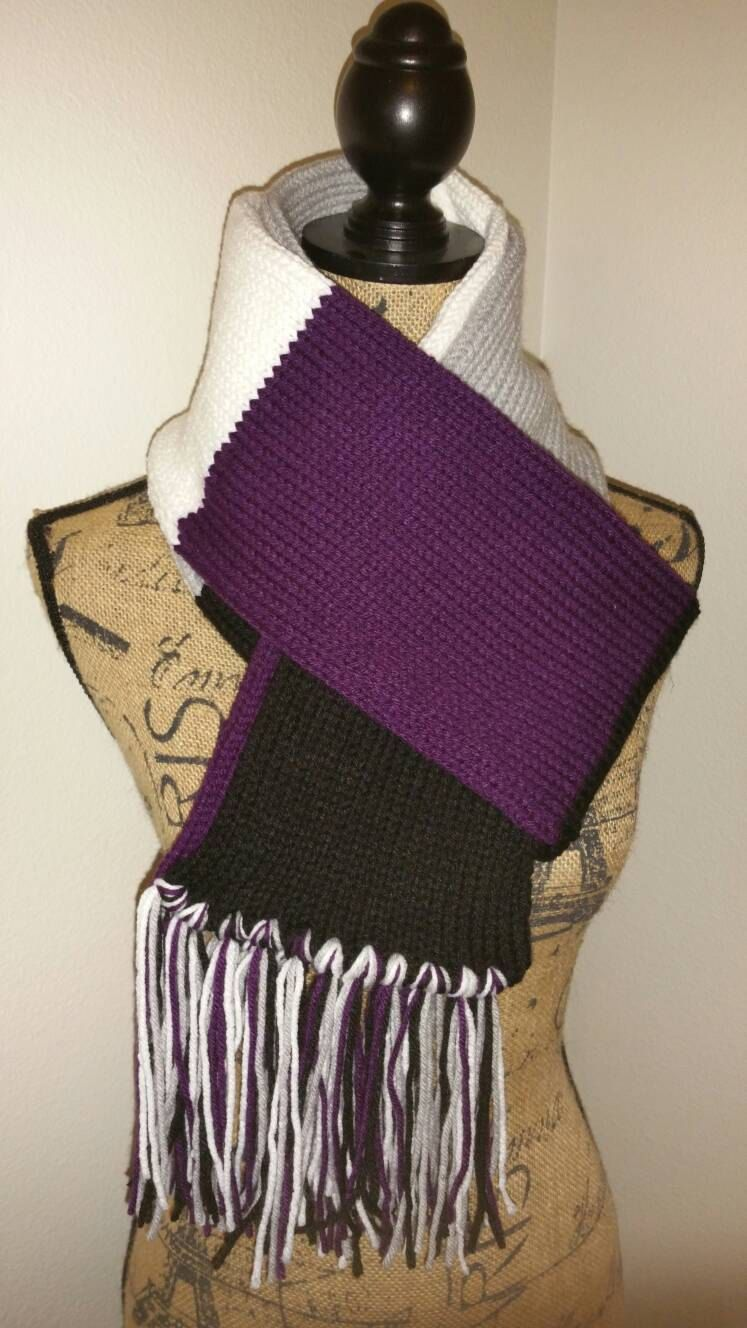 Asexual flag scarf