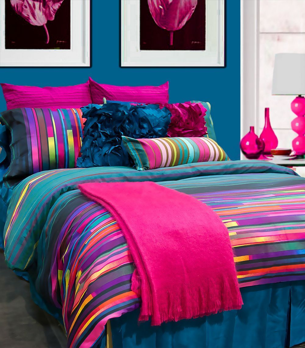 Like The Bright Colors With Images Colorful Bedroom Decor