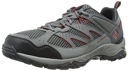 Columbia Men's Plains Ridge Trail Shoe, Grill/Sanguine, 9.5 D US * Check