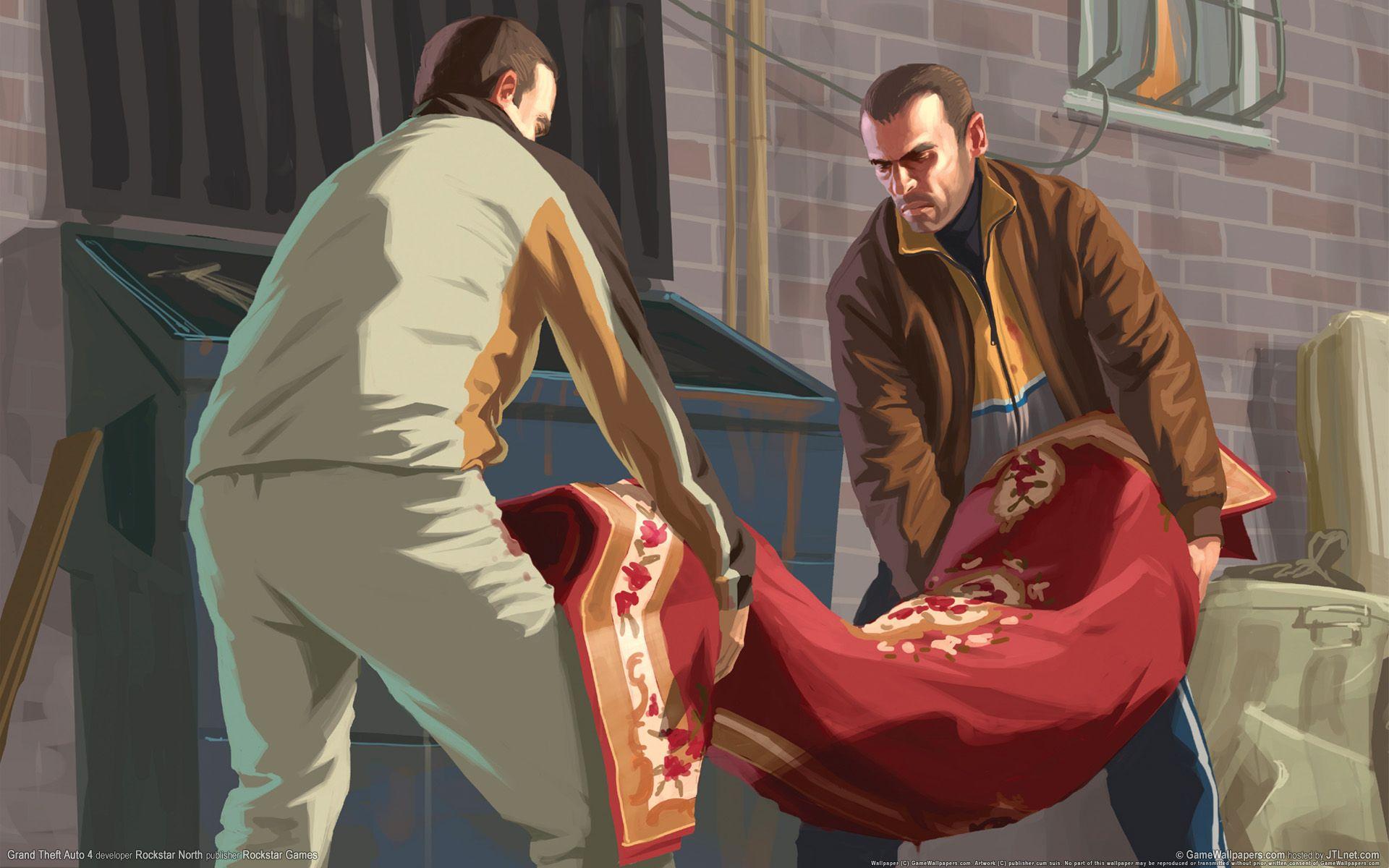 Artwork Gta 4 Niko Roman Grand Theft Auto 4 Grand