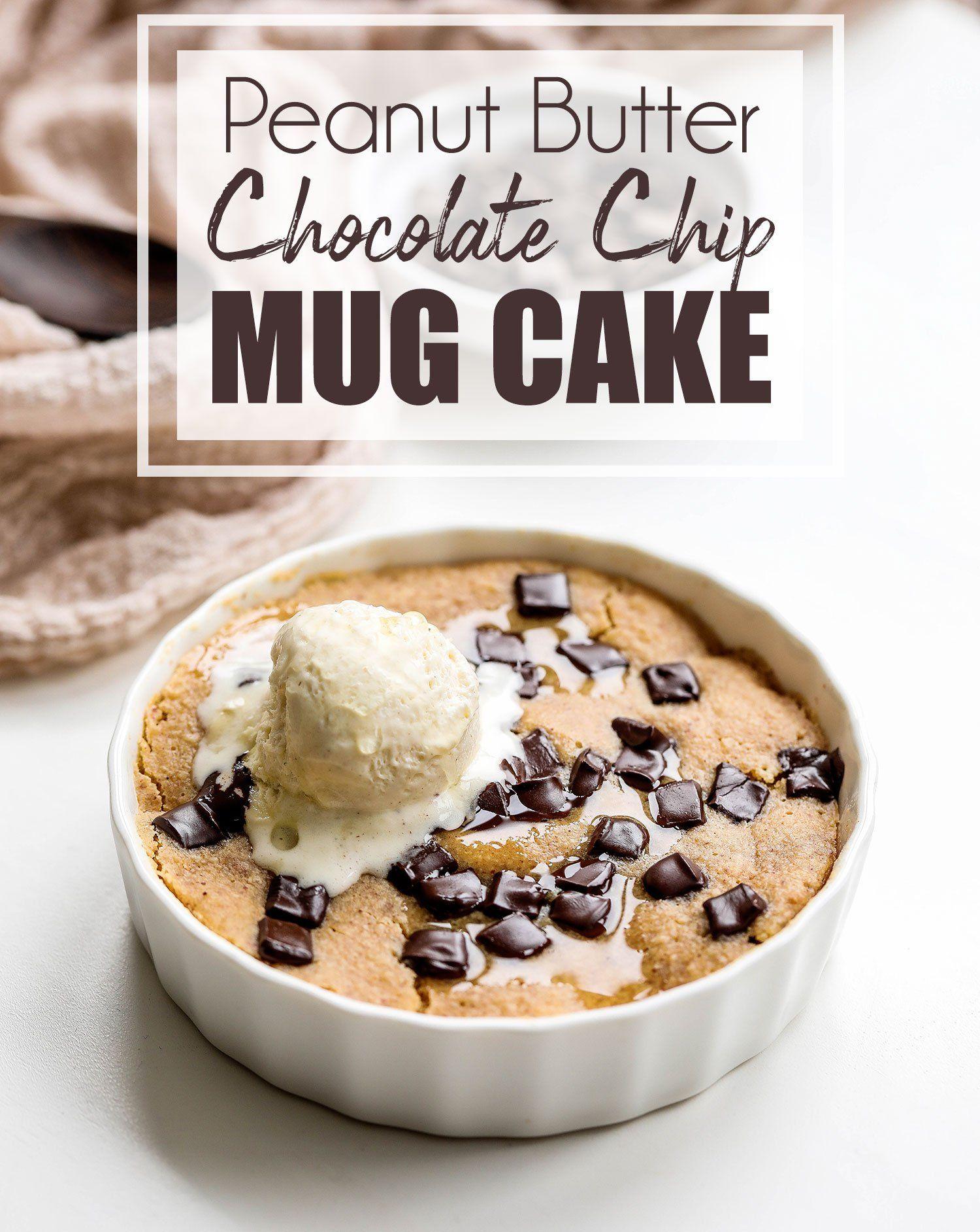 Vegan Peanut Butter Mug Cake #mugcake