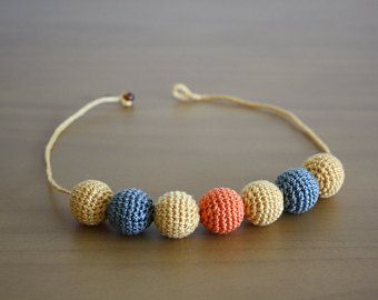 Perline collana crochet