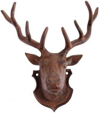 16 99 Cast Iron Stag S Head Wall Decoration