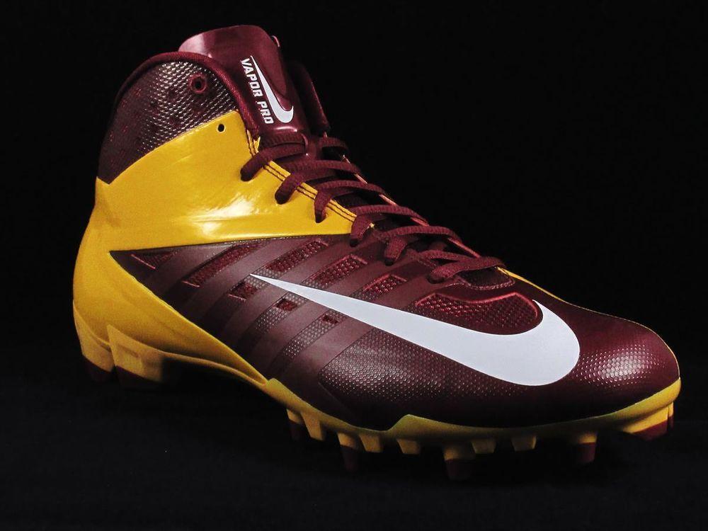 d123170d9a7 Nike Vapor Pro 3 4 TD Football Cleats Size 12 Maroon Gold NFL Redskins  Nike   34MoldedTDFootballCleats