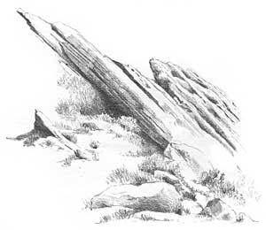 sketching rocks draw