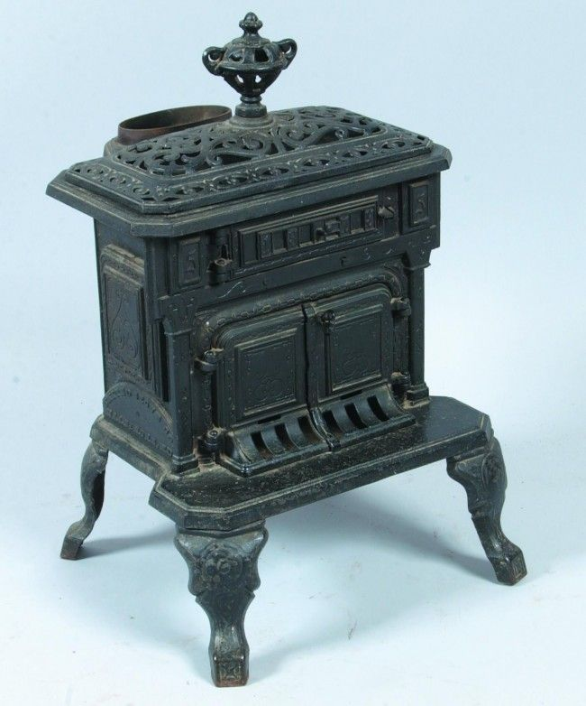 Victorian Small Cast Iron Parlor Stove Dated 1878 ...