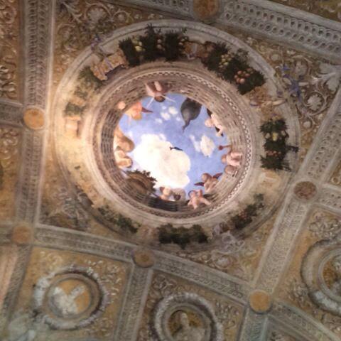 La camera degli sposi di Mantegna a Castello San Giorgio a #Mantova