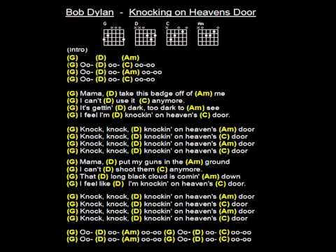 Bob Dylan Knocking On Heavens Door Backing Track With Guitar