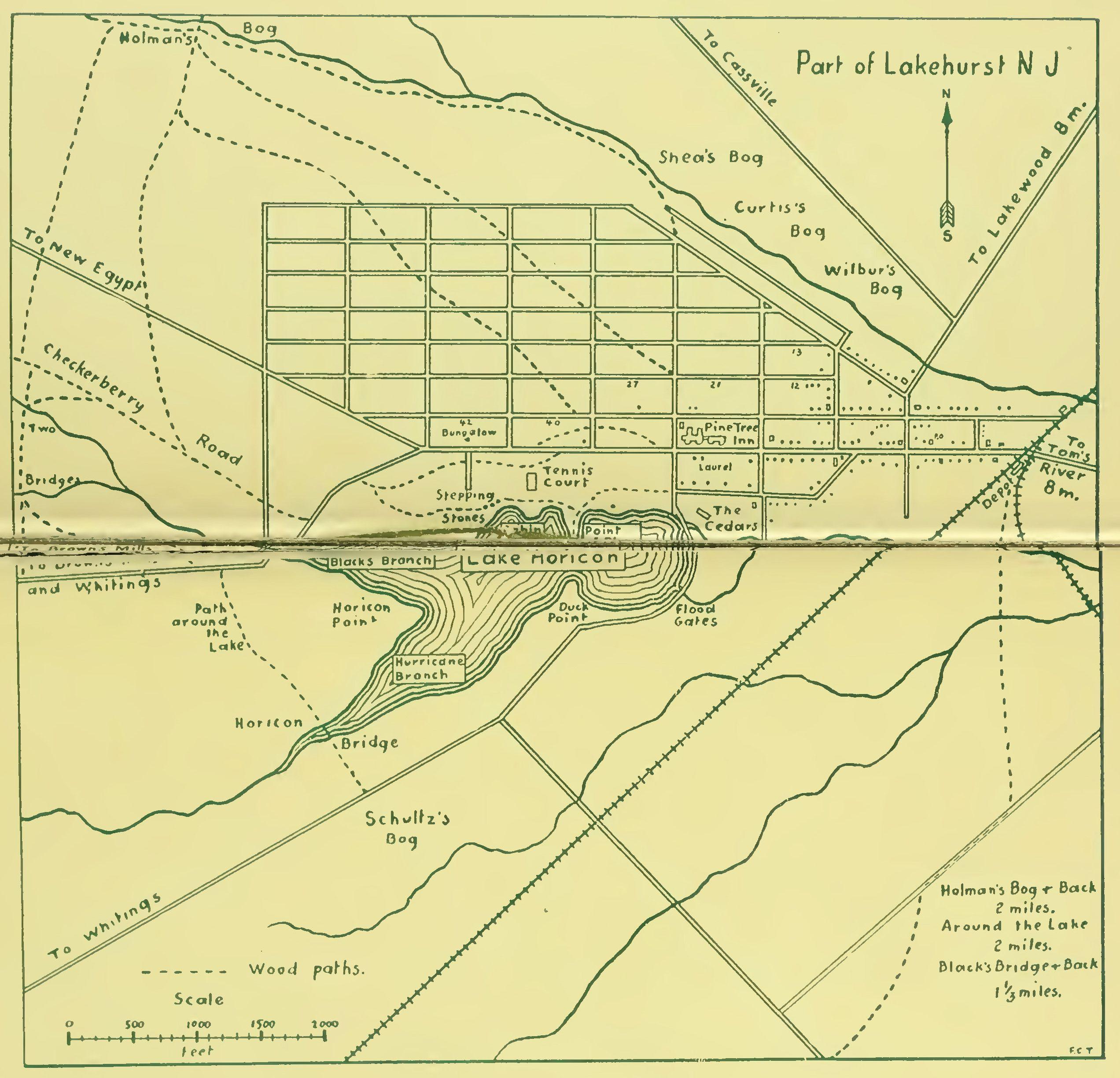 Old Lakehurst, NJ map circa 1908 or so | The Hindenburg, Lakehurst