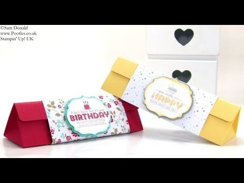 ▶ 18cm 7inchTriangular Box Tutorial by Stampin' Up! UK Independent Demonstrator Pootles - YouTube