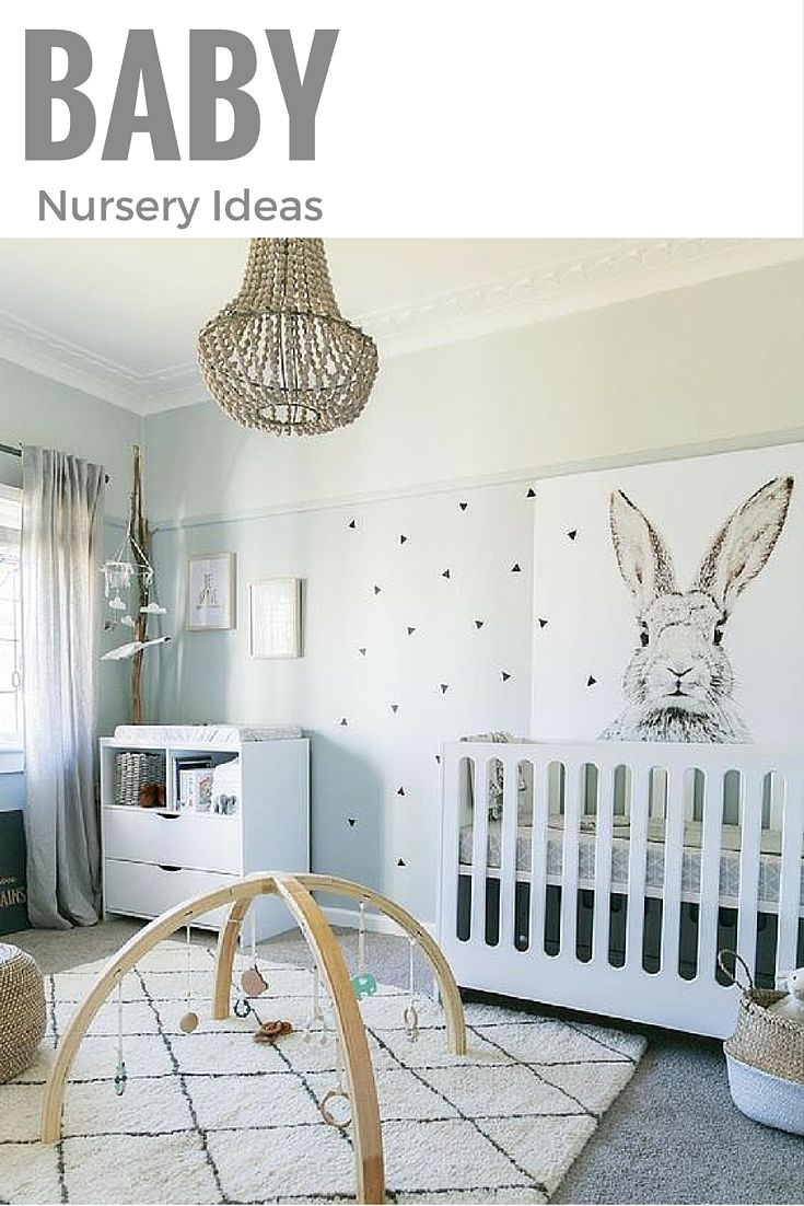 Trendy Nursery I Think This Room Is Super Cute And It Has A Nice Bunny Wall Art White Which Makes Look Modern
