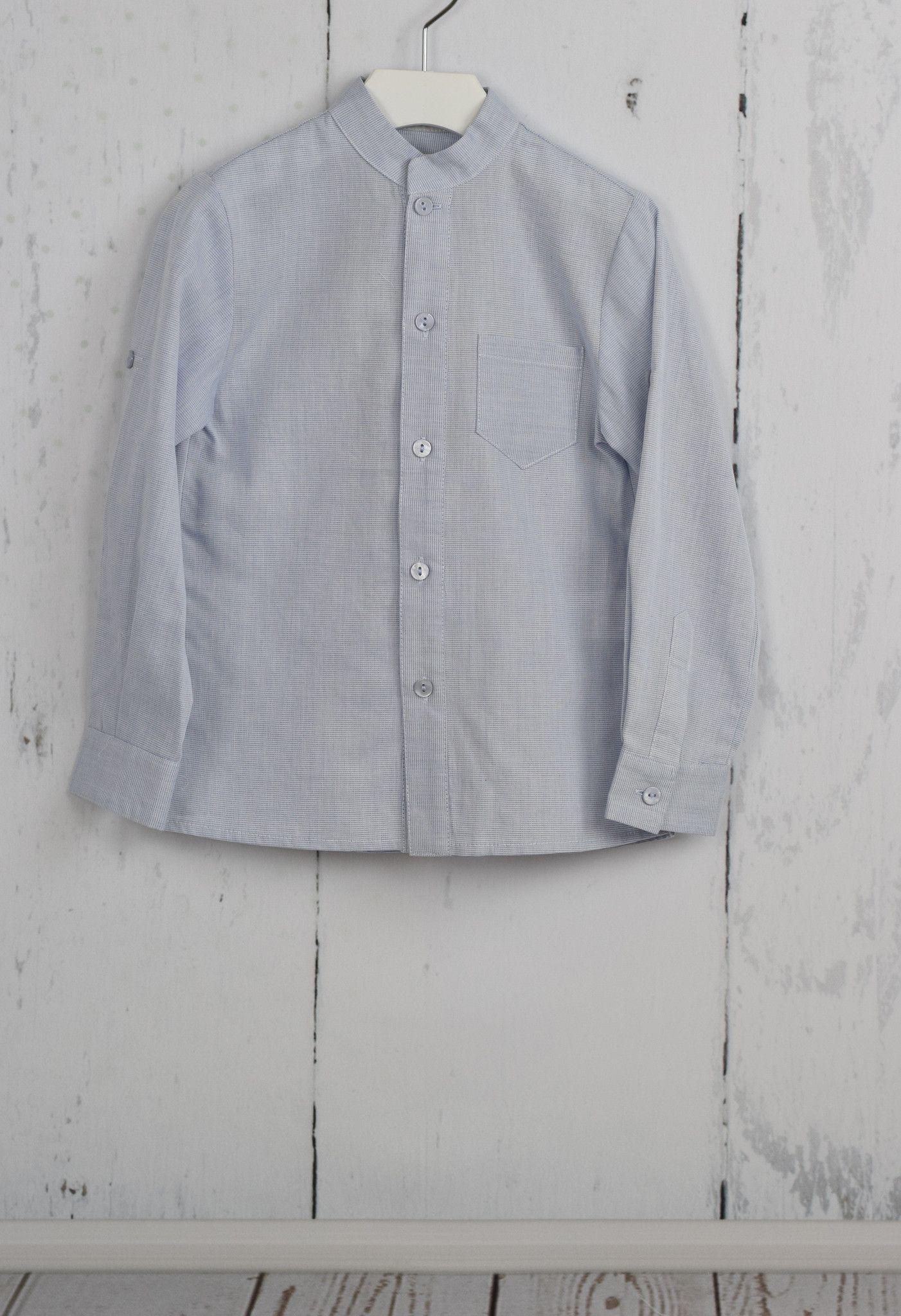 Gray & Blue Mao Shirt