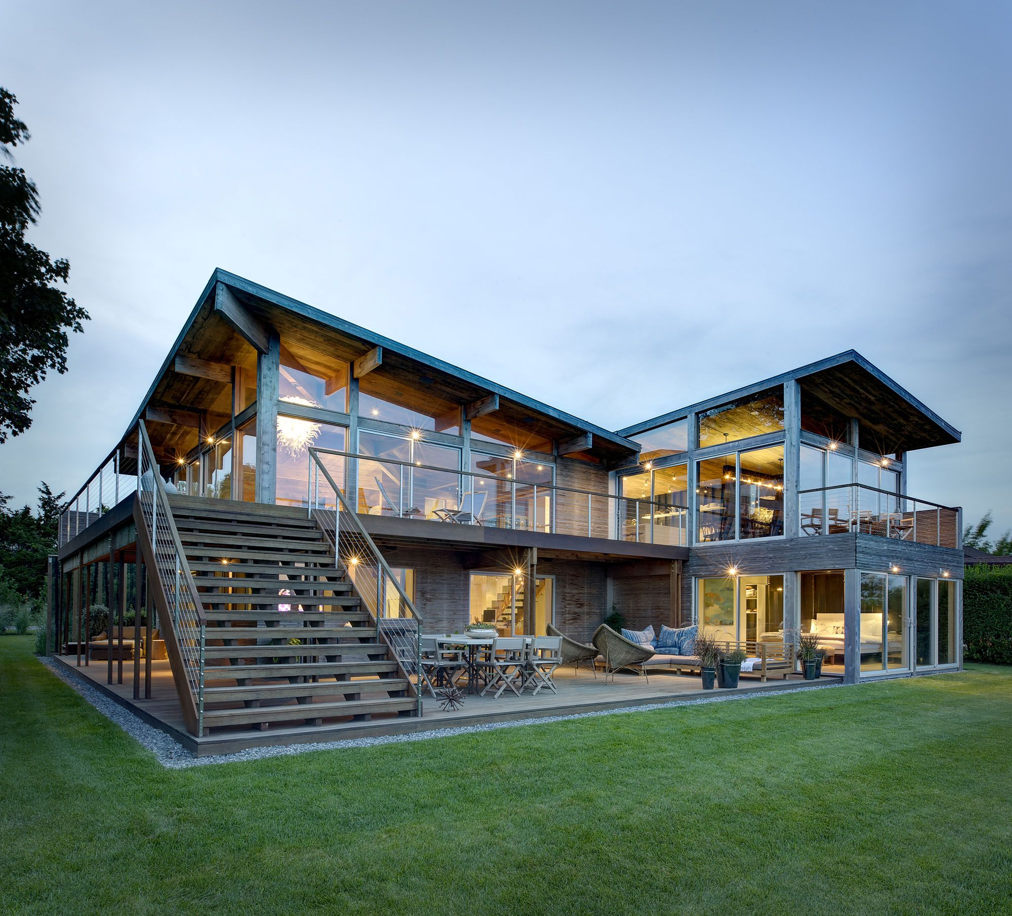 Hurricane-Proof Wood & Steel Waterfront Home