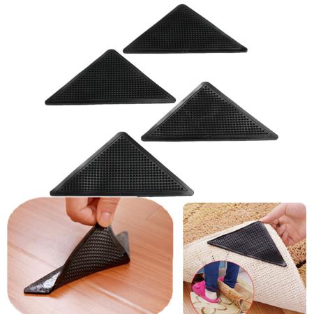 4pcs Reusable Triangle Shaped Non Slip Rug Gripper Stopper Rubber Floor Carpet Mat Washable Tape Sticker For Hardwood Floor Home Livingroom Walmart Com Rugs On Carpet Carpet Mat Washable Rugs