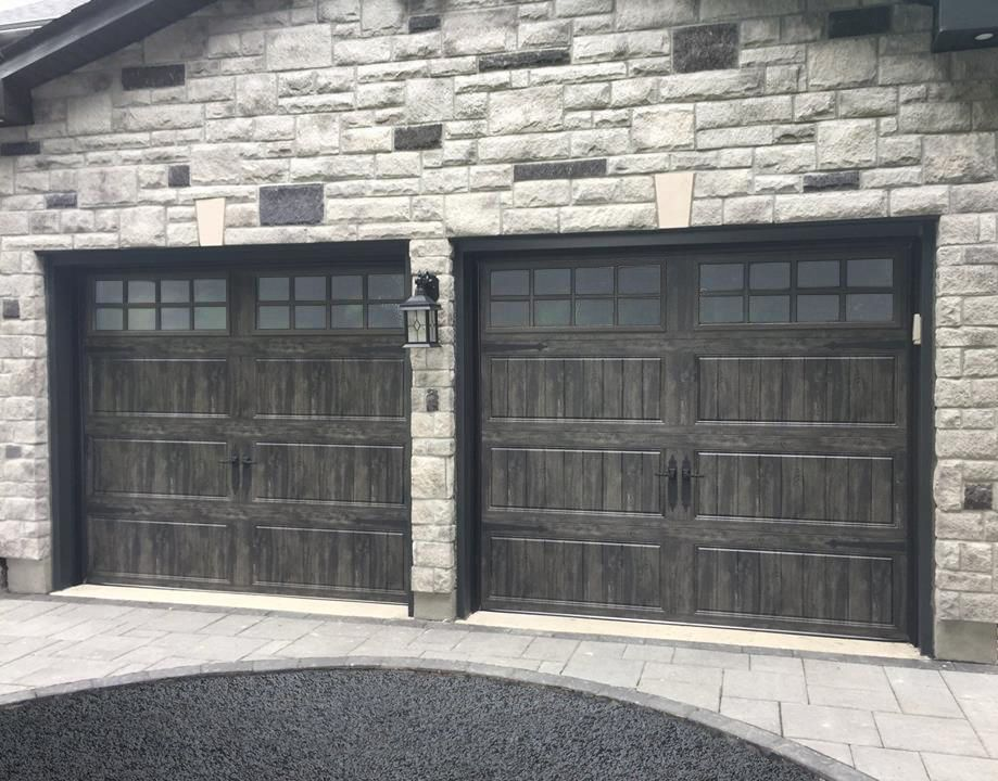 Gray Garage Doors Add Rustic Charm And Organic Texture To Your Home S Exterior With Clopay S New Slate Ga Garage Doors Garage Door Design Garage Door Paint
