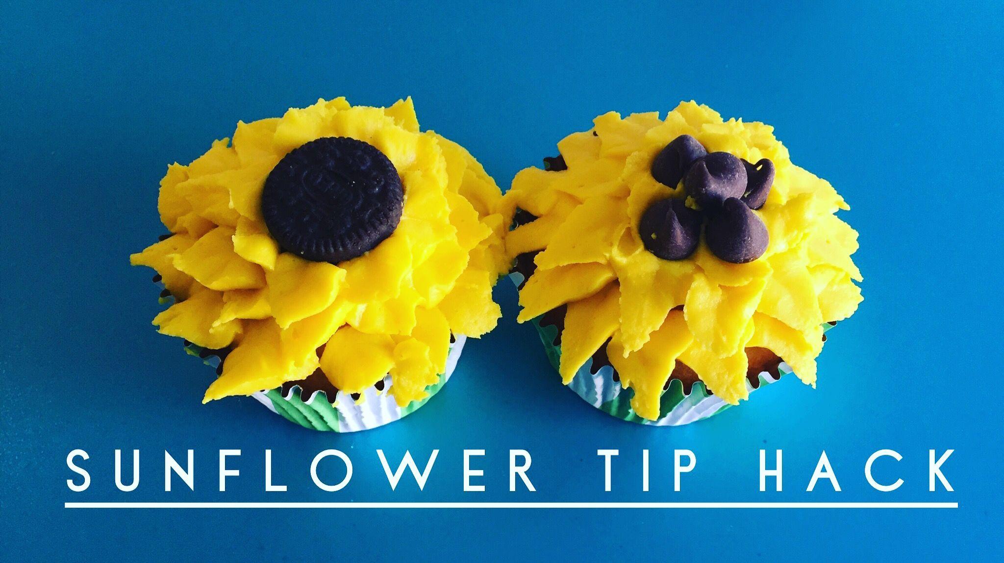 Let me show you how to make a petal flower tip with a freezer bag to create beautiful sunflowers. TodaysCreativeMom.com