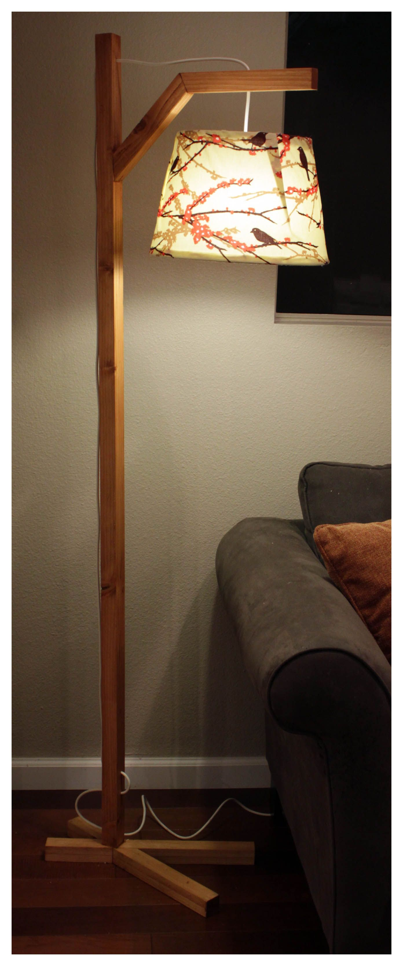 Nature Inspired Floor Lamp Diy Floor Lamp Wood Floor Lamp