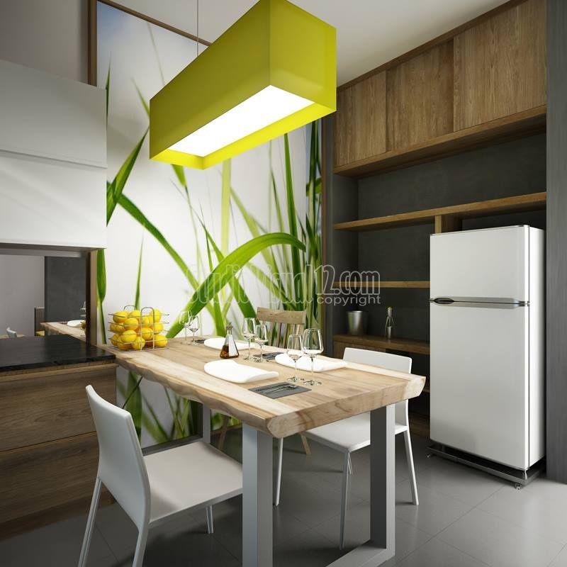 Desain ruang makan rumah modern minimalis bergaya resort for Design interior minimalis modern