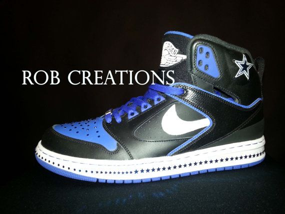 Dallas Cowboys Jordan shoe crystallizedcustom all by ROBcreations ... 5e38e3aa6