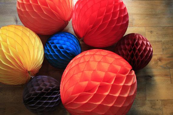 Fall Rustic Shabby Chic Decor ... honeycomb lantern ... by pomtree