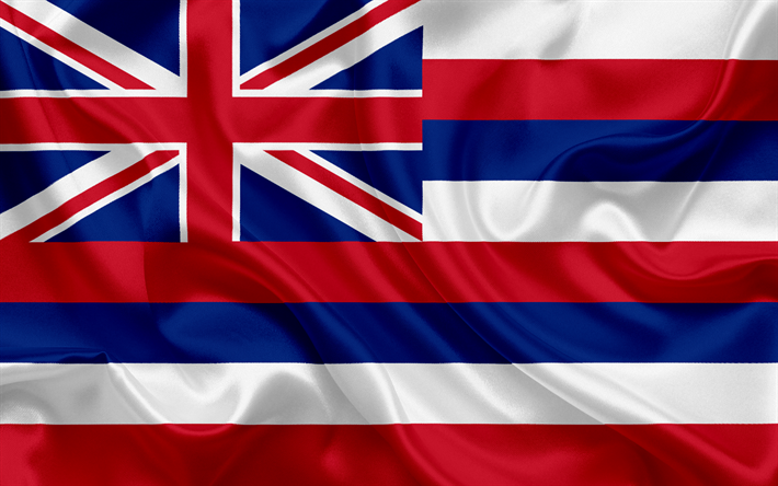 Download Wallpapers Hawai Flag Flags Of States Flag State Of Hawai Usa State Hawai Silk Hawai Coat Of Arms Besthqwallpapers Com Hawaii Flag Hawaii State Flag Hawaiian Flag