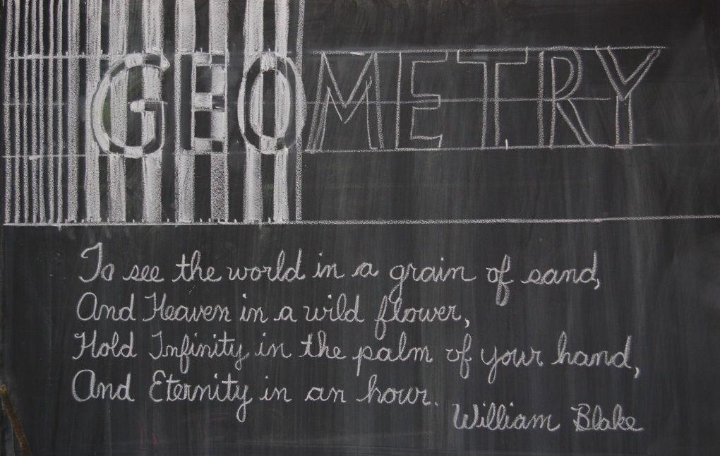 Blackboard at the Great Barrington Rudolf Steiner School