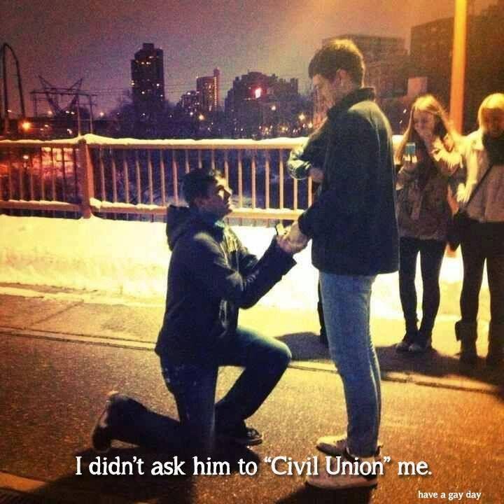 civil union me???? not