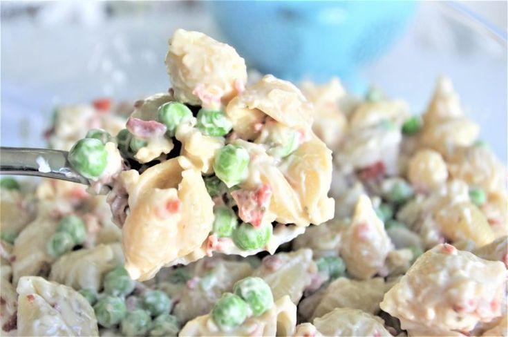Creamy Bacon Pea und Ranch Pasta Salad - schnelle und einfache Beilage   - salads -