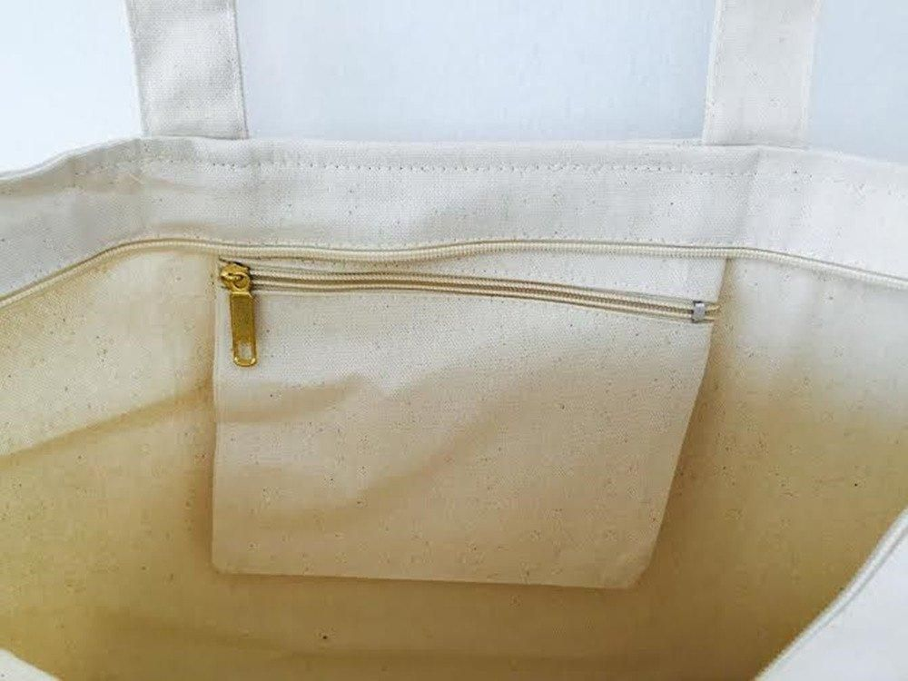 Heavy Duty Canvas Tote Bag With Zipper Closure Tg261 Products