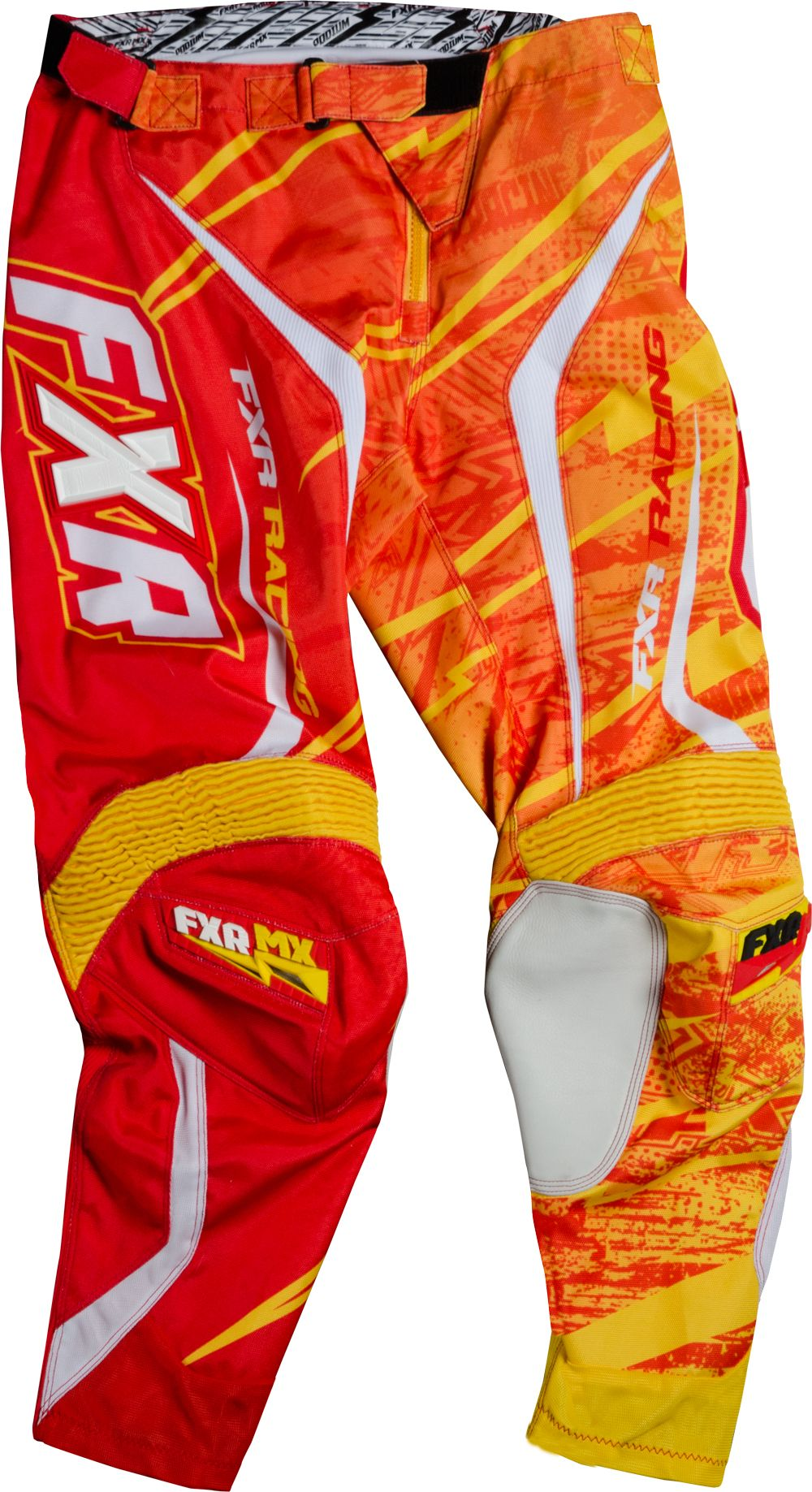 Fxr Racing Dirtbike Mx Gear Podium Warp Mx Pant Yellow Red Riding Outfit Riding Gear Dirt Bikes